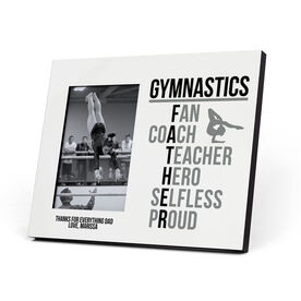 Gymnastics Photo Frame - Gymnastics Father Words (Girl Gymnast)