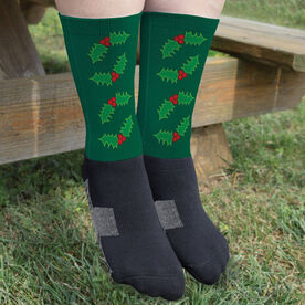 Printed Mid-Calf Socks - Holly