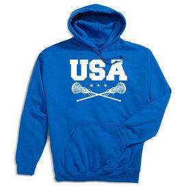Girls Lacrosse Hooded Sweatshirt - USA Girls Lacrosse