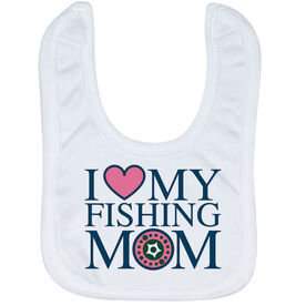 Fly Fishing Baby Bib - I Love My Fly Fishing Mom
