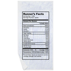 Running Premium Beach Towel - Runners Facts