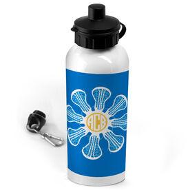 Lacrosse 20 oz. Stainless Steel Water Bottle Monogrammed Lacrosse Flower