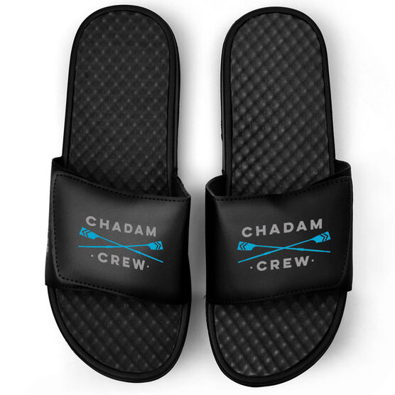 Crew Black Slide Sandals - Team Name