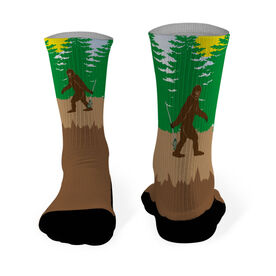 Lacrosse Printed Mid Calf Socks Bigfoot