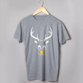 Softball Short Sleeve T-Shirt - Reindeer