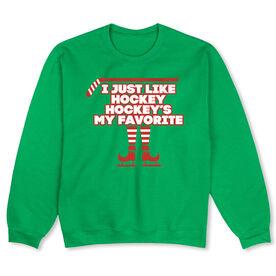 Hockey Crew Neck Sweatshirt (Special Edition) - Hockey's My Favorite