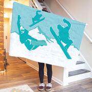 Snowboarding Premium Blanket - Airborne Snowboarders