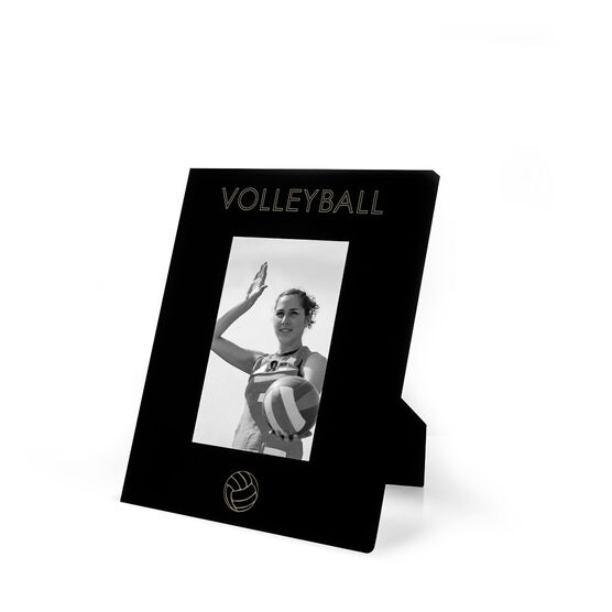Volleyball Engraved Picture Frame - Simple Volleyball