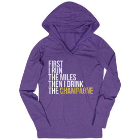 Women's Running Lightweight Performance Hoodie - Then I Drink The Champagne