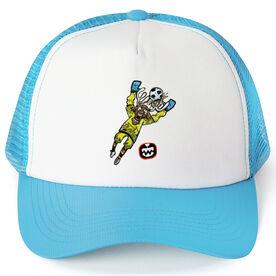 Seams Wild Soccer Trucker Hat - Blockler