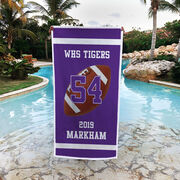 Football Premium Beach Towel - Personalized Team
