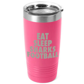 Football 20 oz. Double Insulated Tumbler - Personalized Eat Sleep Football