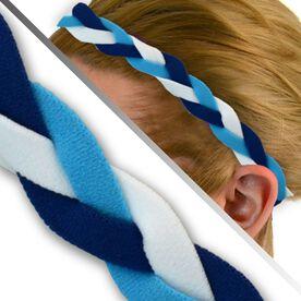 GripBand Headband - Royal Blue Light Blue White