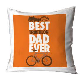 Triathlon Throw Pillow Best Dad Ever