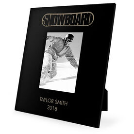 Snowboarding Engraved Picture Frame - Top Snowboarding