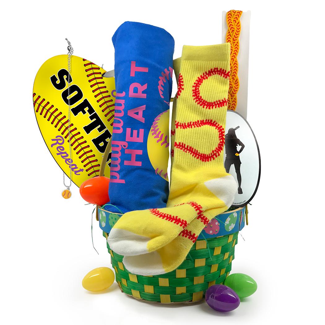 Home Run Softball Easter Basket