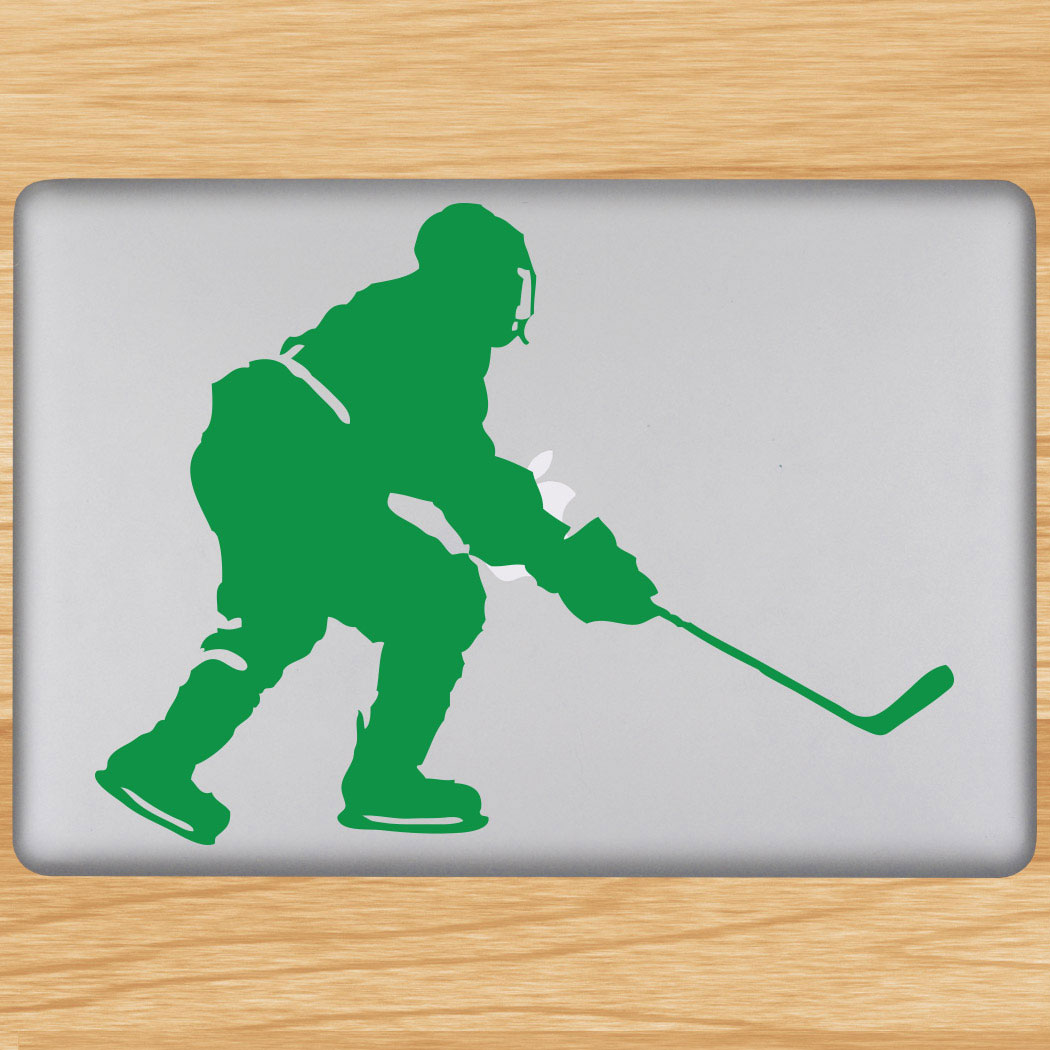 Hockey Player Skating Removable ChalkTalkGraphix Laptop Decal Click to  Enlarge
