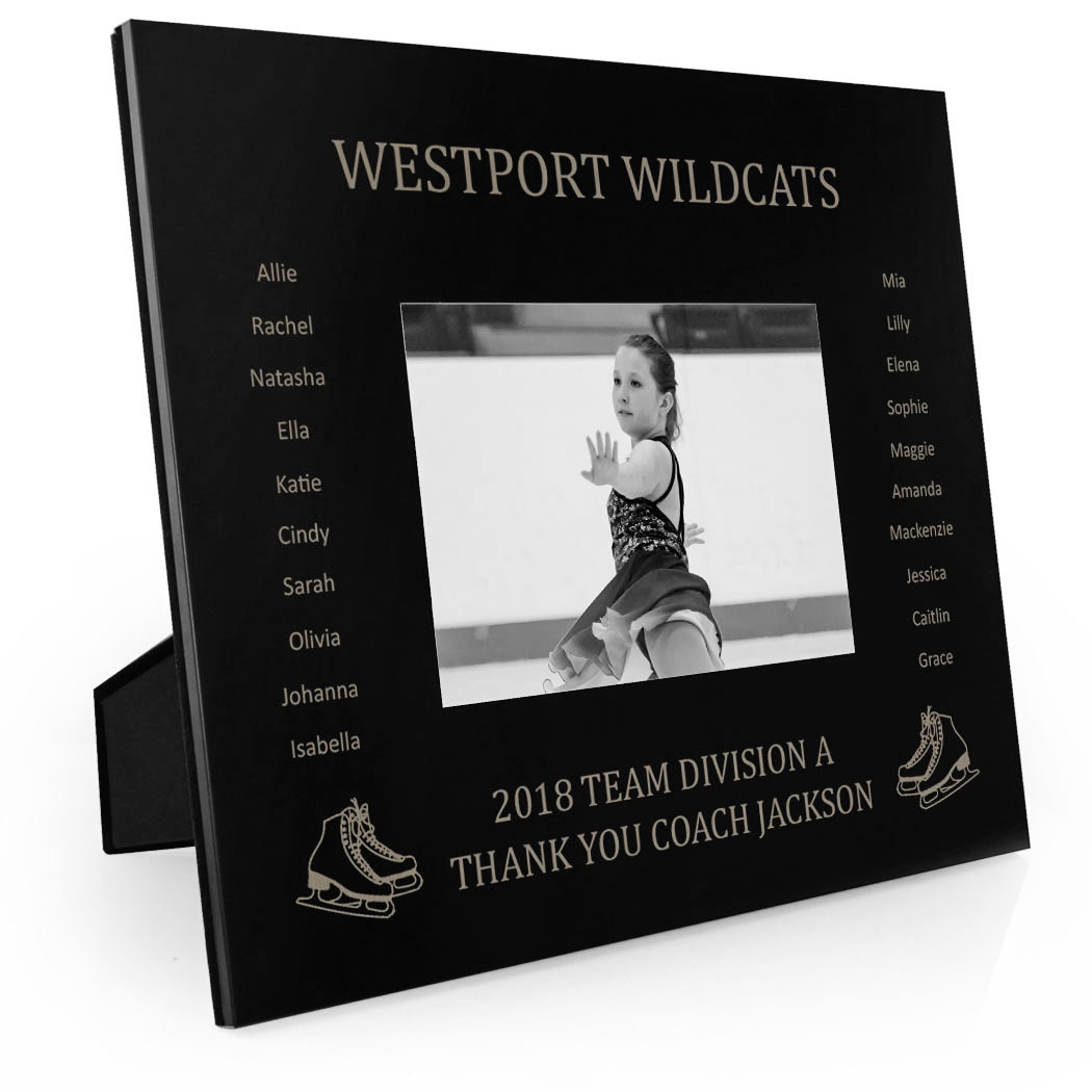 Figure Skating Engraved Picture Frame - Team Name With Roster