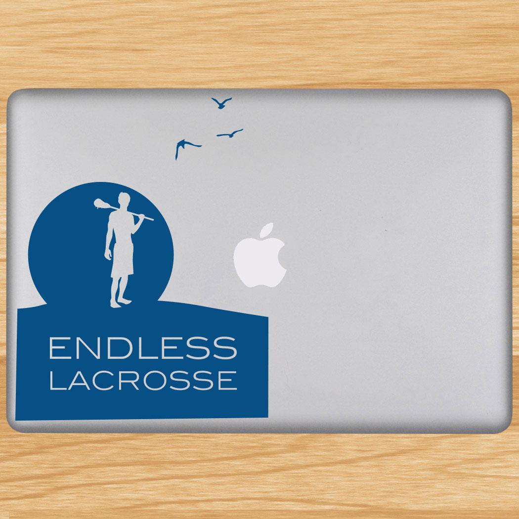 Endless Lacrosse Removable ChalkTalkGraphix Laptop Decal Click to Enlarge