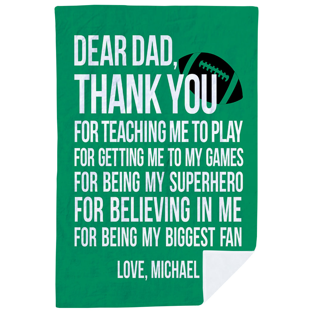 Football Premium Blanket - Dear Dad - Personalization Image