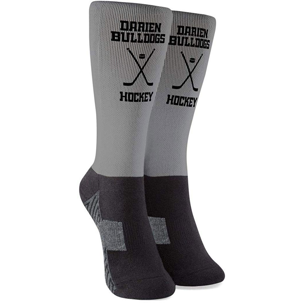 Hockey Printed Mid-Calf Socks - Custom Team Name & Number