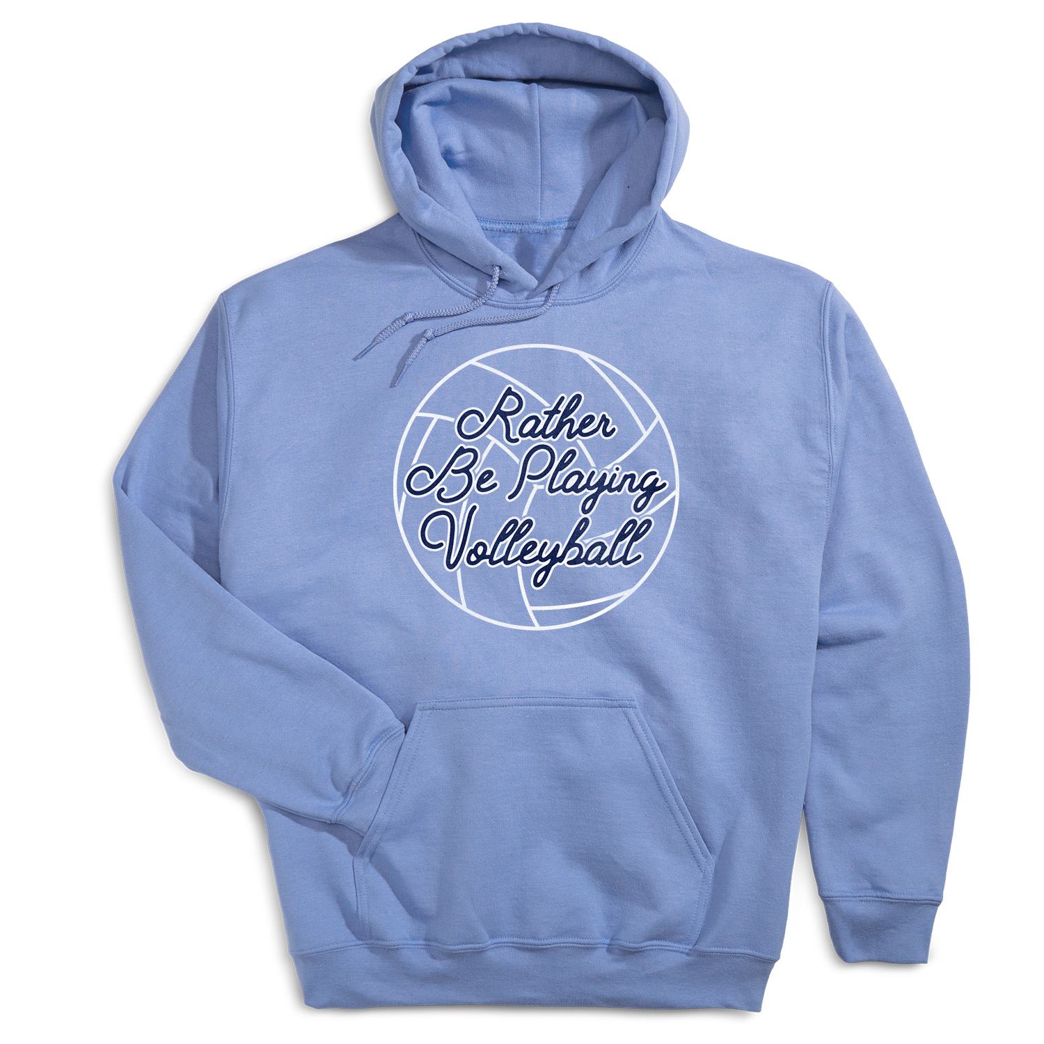 Volleyball Hooded Sweatshirt - I'd Rather Be Playing Volleyball