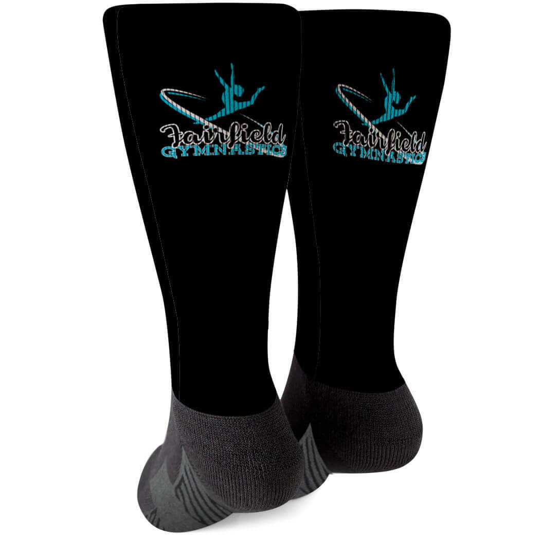Gymnastics Printed Mid-Calf Socks - Your Logo - Personalization Image