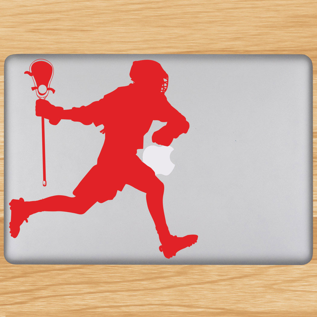Lacrosse Guy Running Removable ChalkTalkGraphix Laptop Decal Click to  Enlarge