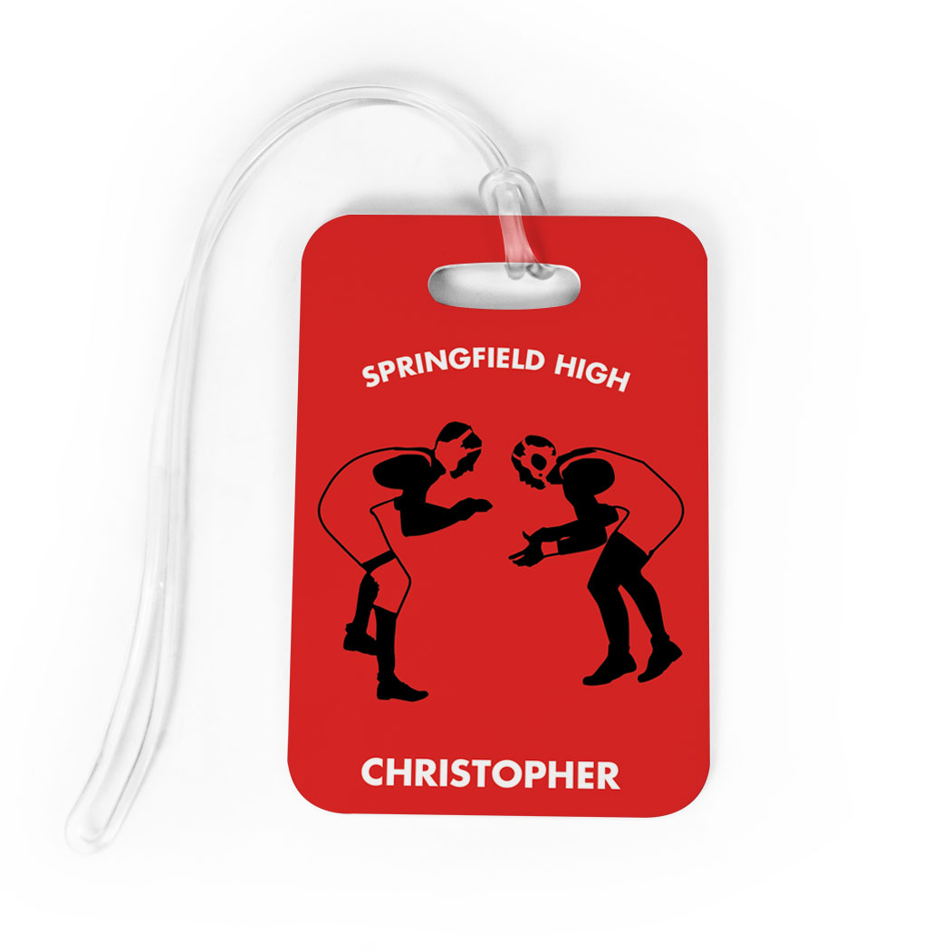 Wrestling Bag/Luggage Tag - Personalized Wrestling Team Wrestlers