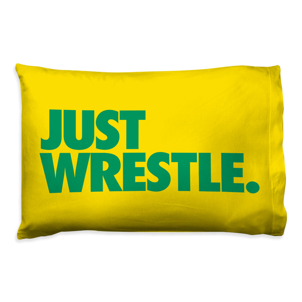 Wrestling Pillowcase - Just Wrestle - Personalization Image