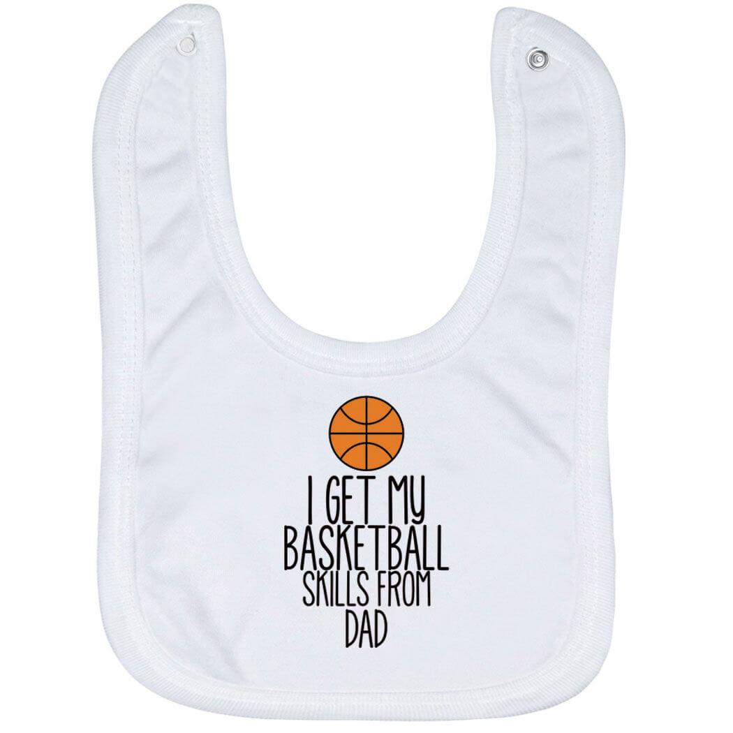 Basketball Baby Bib - I Get My Skills From - Personalization Image