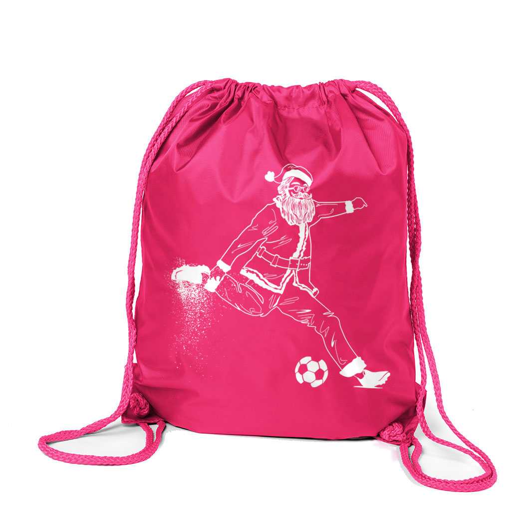 Soccer Sport Pack Cinch Sack - Santa Player