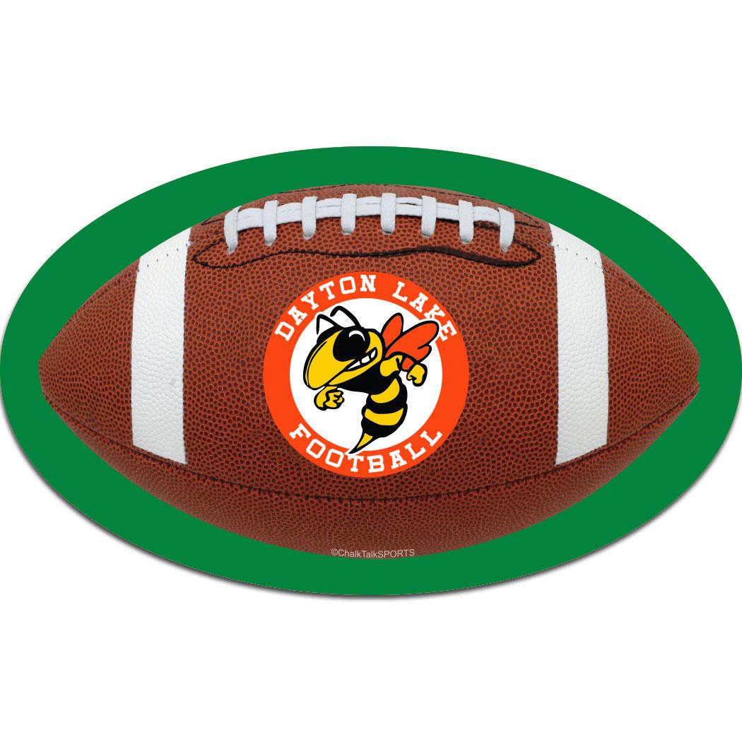 Football Oval Car Magnet ChalkTalkSPORTScom - Custom football car magnets