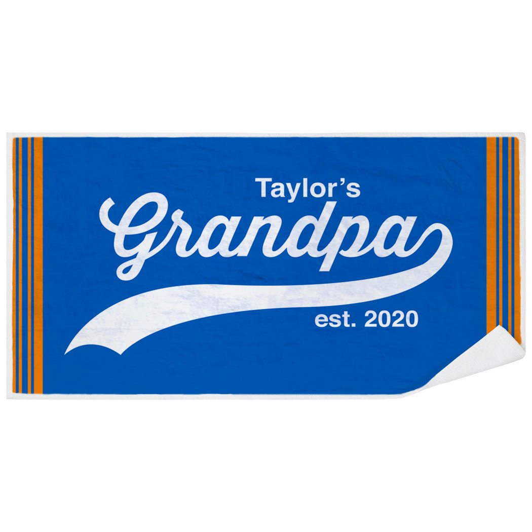 Personalized Premium Beach Towel - Rocking Being A Grandpa