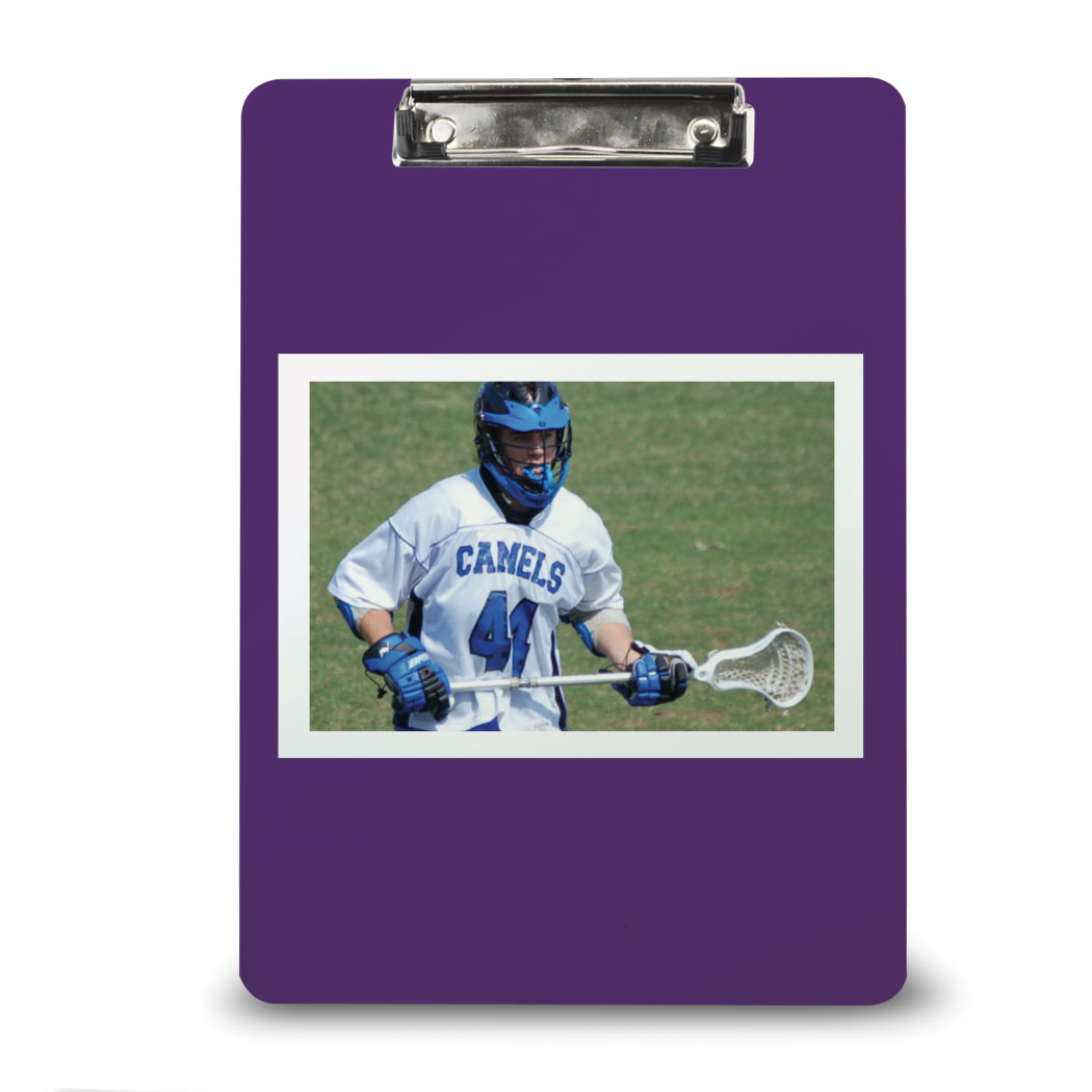Lacrosse Custom Clipboard Lacrosse Your Photo Solid Background