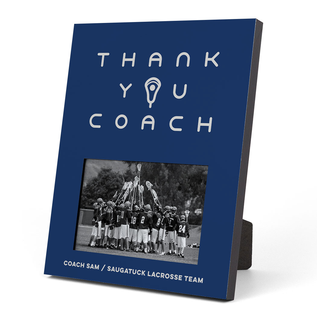 Guys Lacrosse Photo Frame - Thank You Coach
