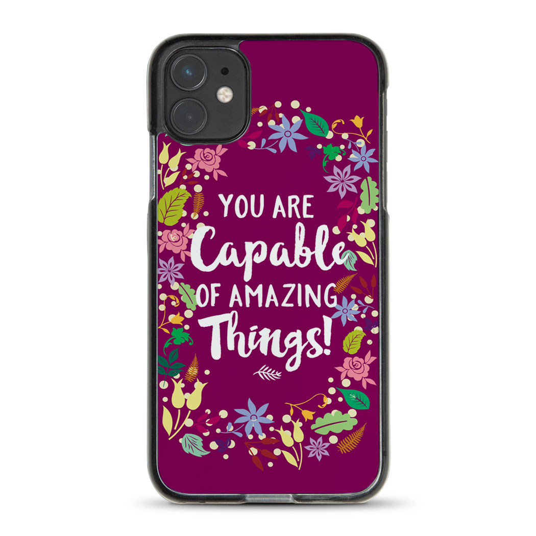Personalized iPhone® Case - Custom Text with Floral Border