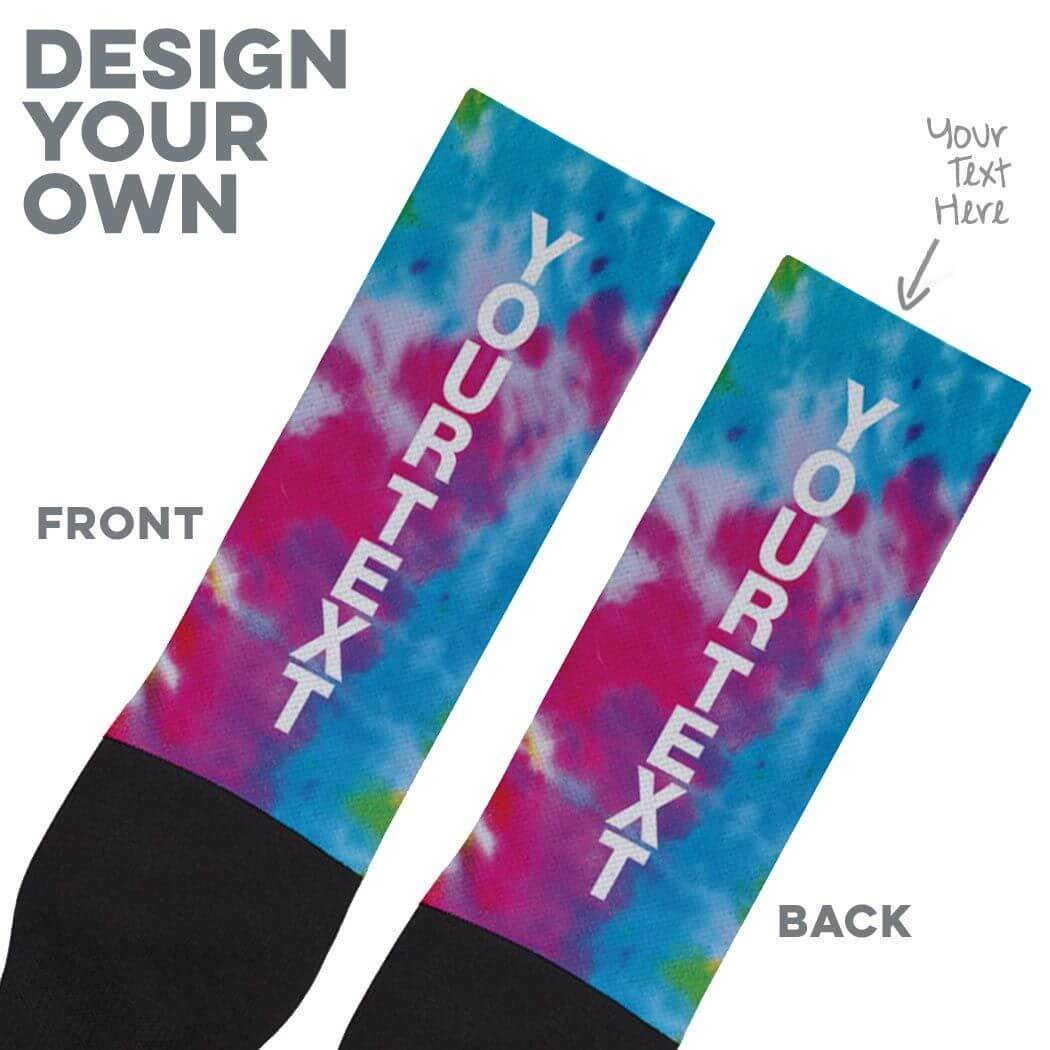 Printed Mid-Calf Socks - Personalized Text Vertical - Personalization Image