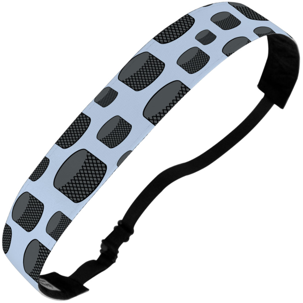 Hockey Juliband No-Slip Headband - Tossed Puck Pattern