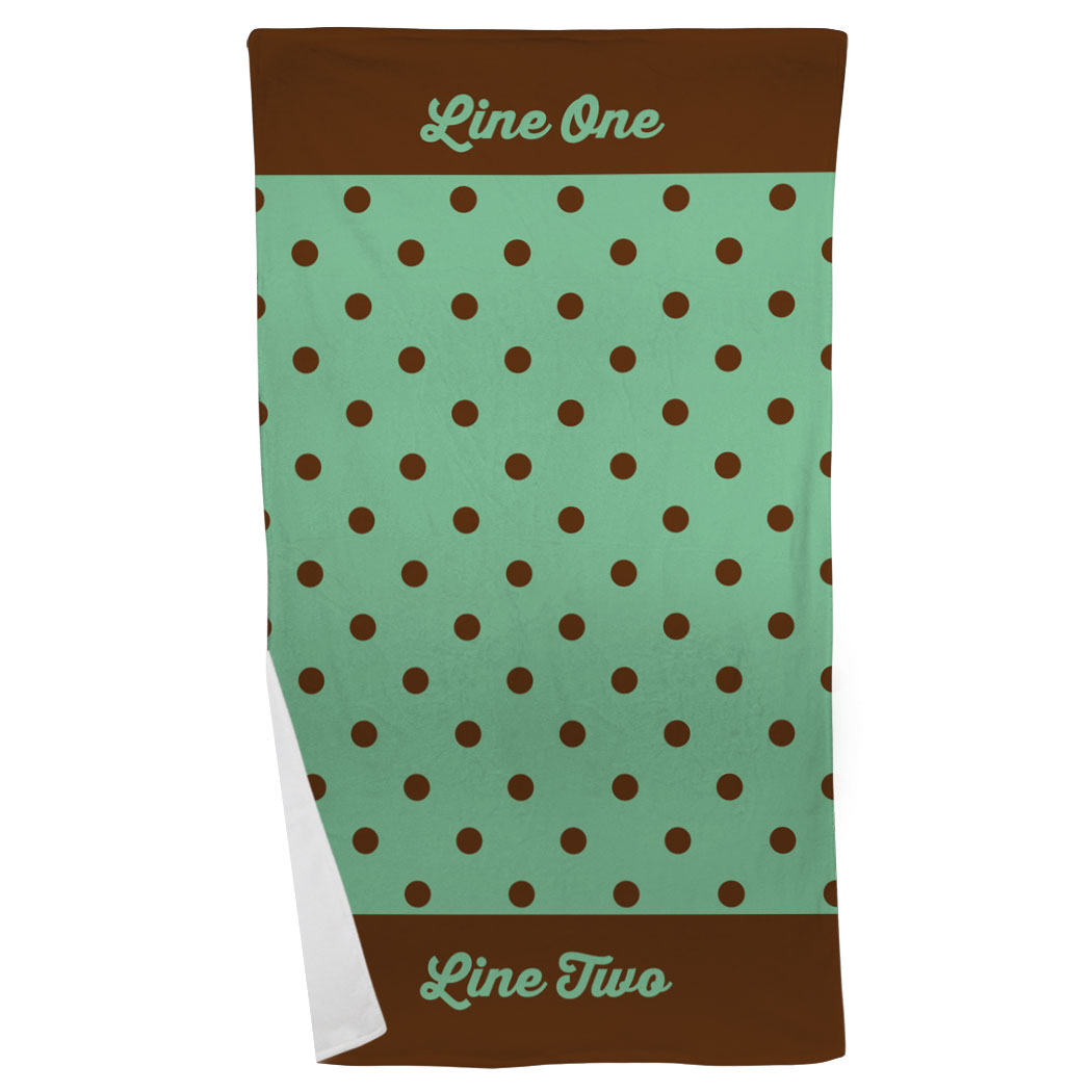 Personalized Beach Towel - My Polka Dots