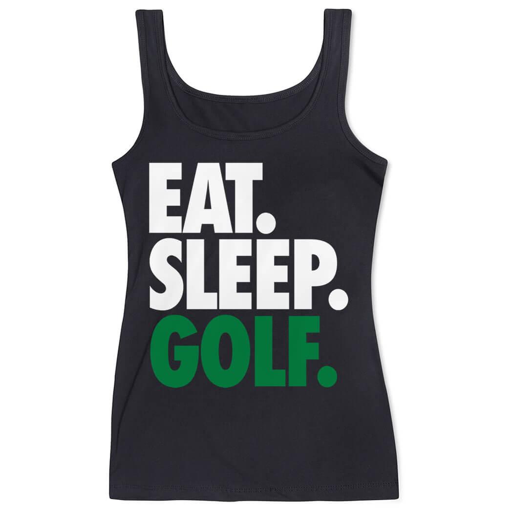 Golf Women's Athletic Tank Top Eat. Sleep. Golf.   ChalkTalkSPORTS