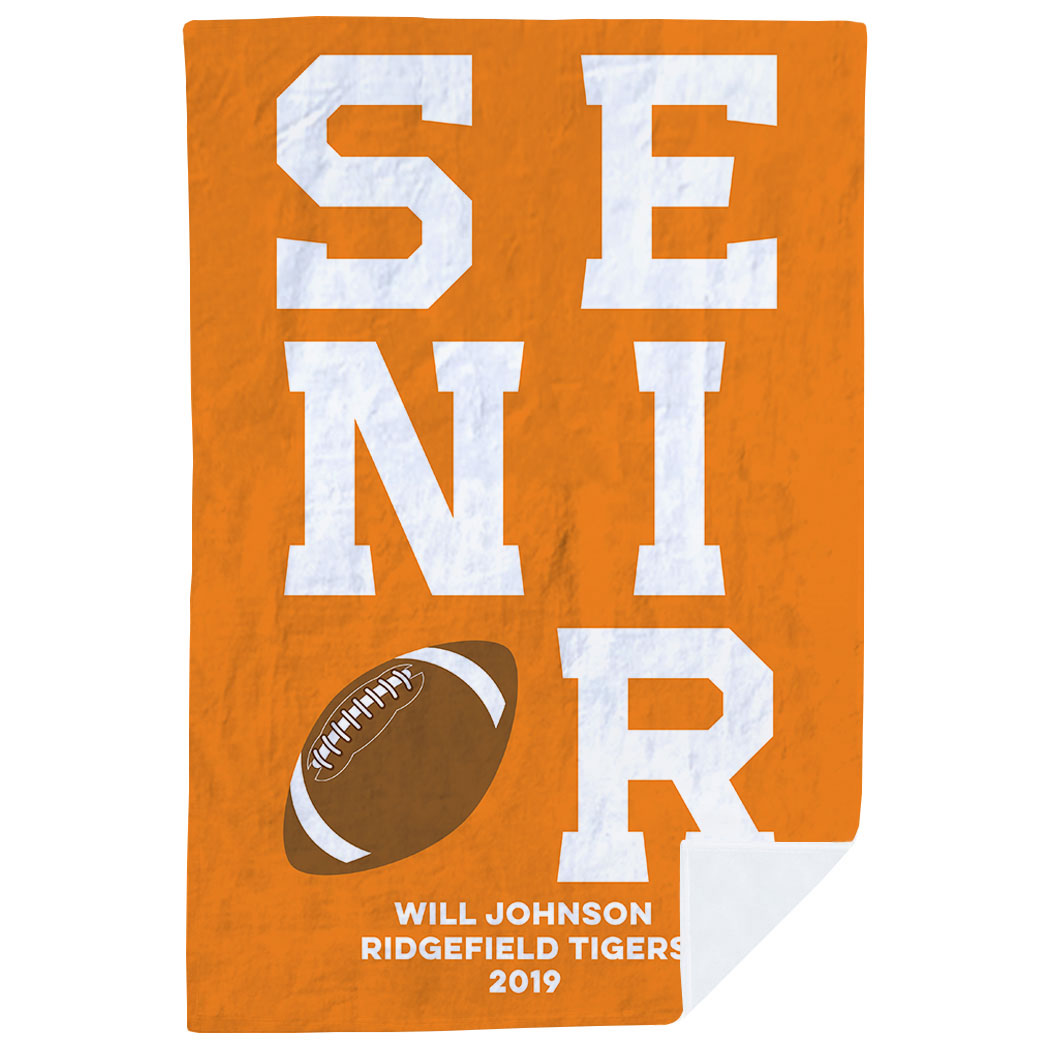 Football Premium Blanket - Personalized Senior