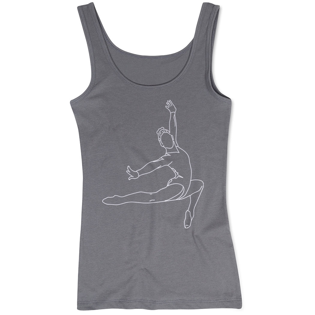 Gymnastics Women's Athletic Tank Top - Gymnast Sketch