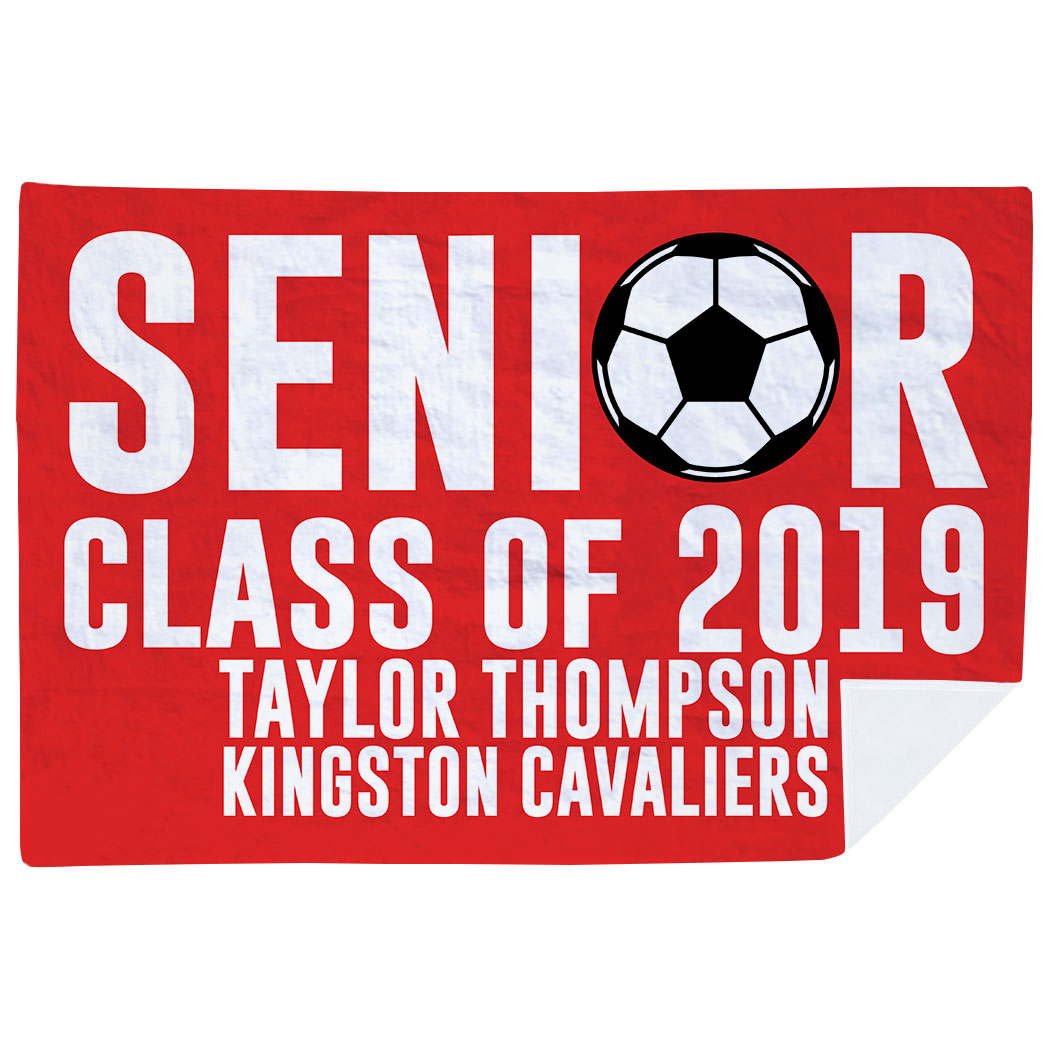 Soccer Premium Blanket - Personalized Soccer Senior Class Of