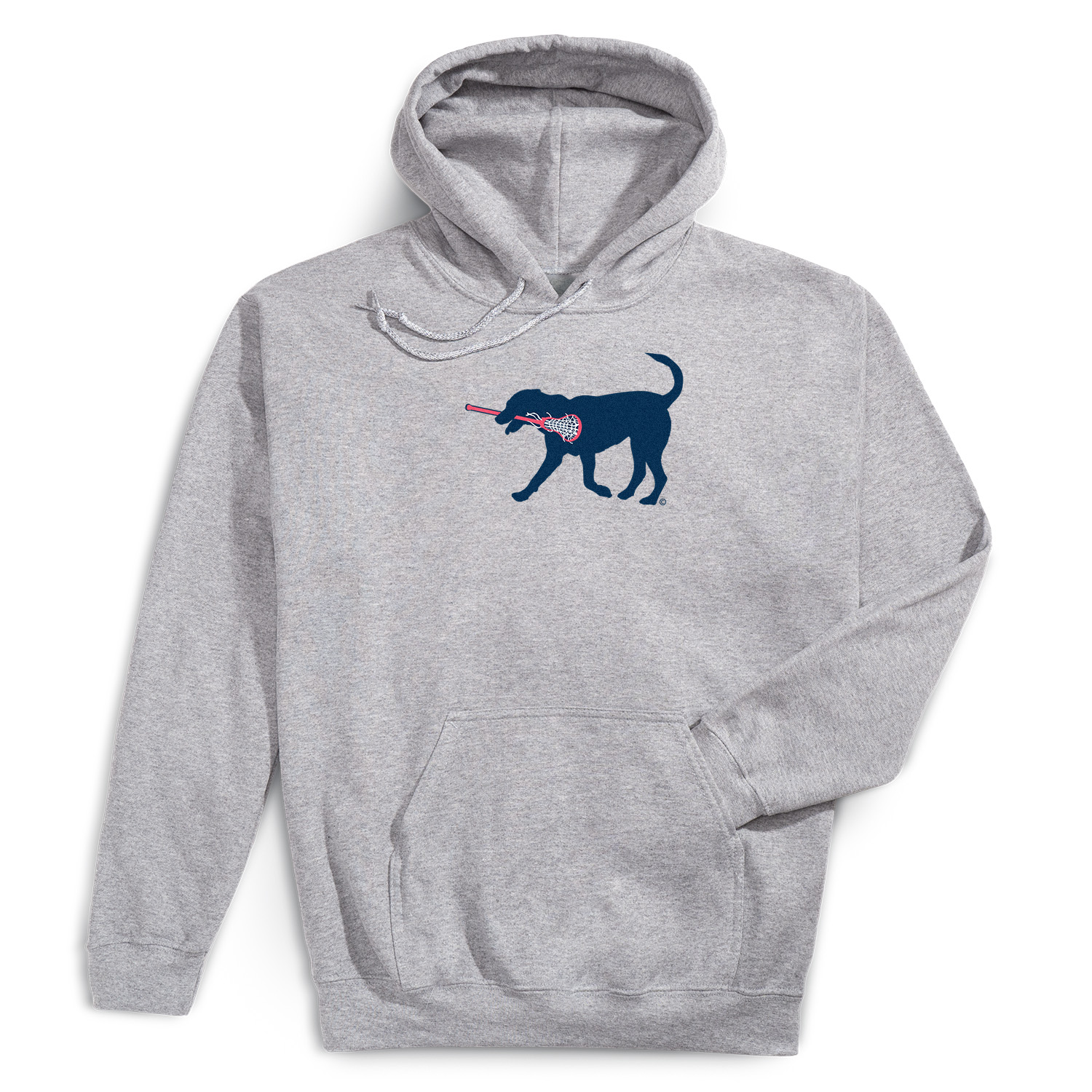 Girls Lacrosse Hooded Sweatshirt - LuLa The LAX Dog(Blue)