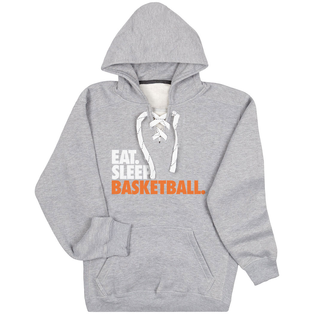 Basketball Sport Lace Sweatshirt Eat. Sleep. Basketball. - Personalization Image