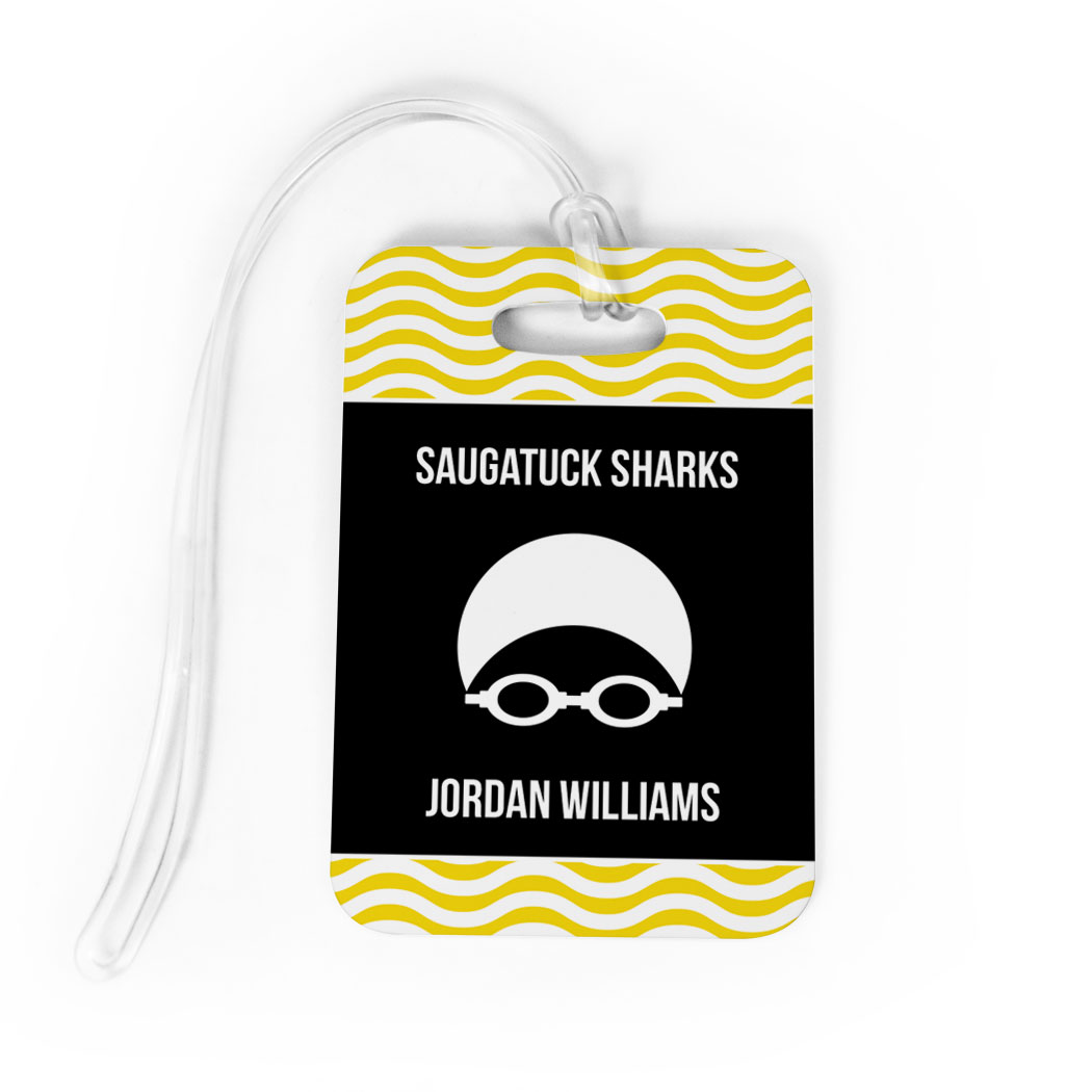 Swimming Bag/Luggage Tag - Personalized Swim Team with Swimmer