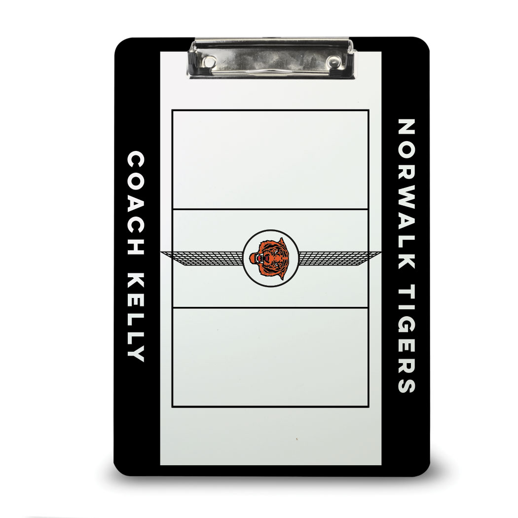 ChalkTalk Volleyball Custom Coaches Dry Erase Clipboard - Personalization Image
