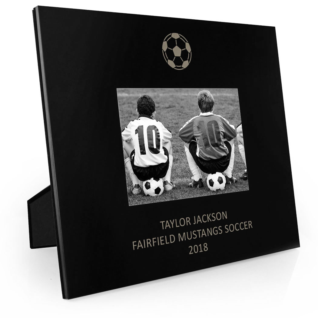 Soccer engraved picture frame soccer ball chalktalksports soccer engraved picture frame soccer ball jeuxipadfo Images