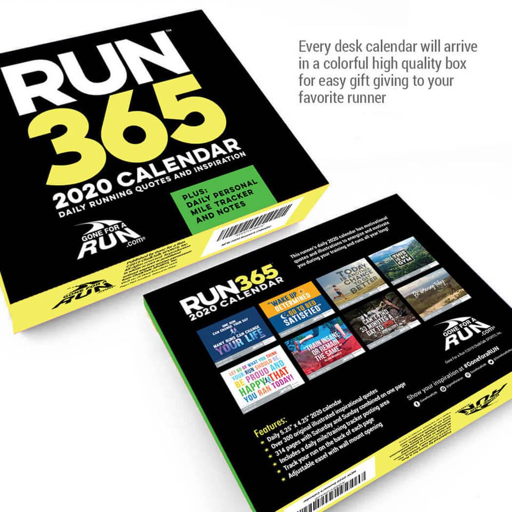 365 Day Running Calendar Box